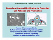 Chem120A+Notes+-+Komvopoulos+Biointerface+Modification