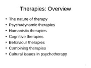 Ch17 Part1 Therapies