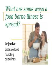 What are some ways a food borne illness