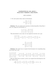 MATH 1105 Fall 2012 Practice Quiz 3 Solutions