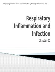 Ch20 Respiratory inflammation and infection (3).pptx