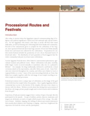 Processional Routes and Festivals