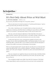 It's Not Only About Price at Wal-Mart - The New York Times.pdf