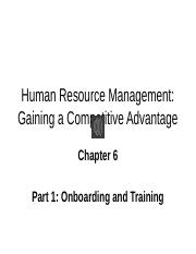CH 6 Part 1 Narrated Slides Onboarding and Training