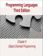 Object Oriented Programming Part 1