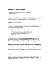 EDPY 401 Behavioral consequences