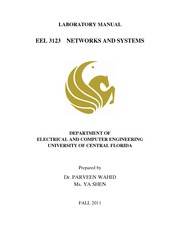 electric networks lab manual