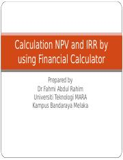 chapter 8.1 CAPITAL BUDGETING CALCULTOR.ppt