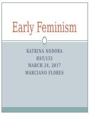 Early Feminism