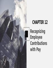 Chapter 12 - Incentive Pay