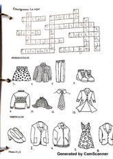 spanish 101 crucigrama la ropa - Generated by CamScanner