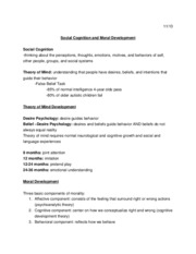 11-13 Social Cognition and Moral Development