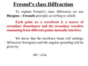 Fresnel's class Diffraction