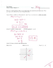 Math 115 Exam 4 Key on Algebra