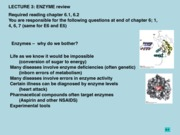 Lecture 3 (Enzyme Introductions E6)