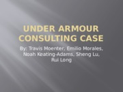 Under Armour Consulting Case