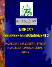 2 2014  LEVEL OF MANAGEMENT AND SKILLS.ppt