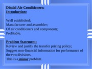 S&C5 Case 13 Dindal Air Conditioning