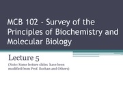 MCB 102 - Lecture 5 -Summer 2014
