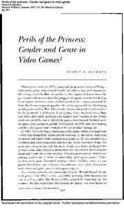 Sherman, Perils of the Princess - Gender and Genre in Video Games (S)