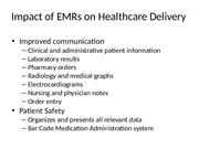 Impact of EMRs on Healthcare Delivery (1)