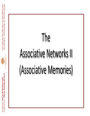 ENN  115 (Associative Networks II)