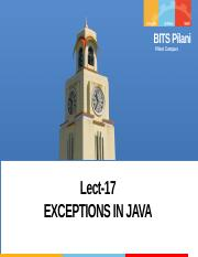 Lect-17 EXCEPTIONS IN JAVA.pptx