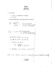 MA 373 S11 Quiz 1 Solutions
