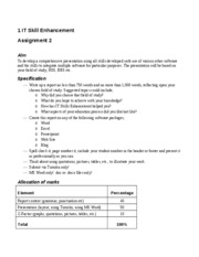 IT Skill Enhancement Assignment