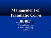 Management of Traumatic Colon injury 11.05.10 PM