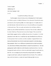 Lincoln Park Zoo Primate Observation Essay