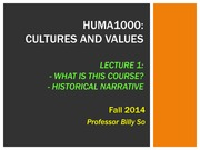 HUMA1000+L1+_Fall+2014_+Lecture+1-+Course+Introduction+and+Historical+Narrative+_010914_+1