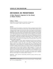 Cathy Cohen- Deviance As Resistance.pdf