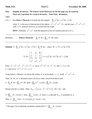 MATH 224 2008 Test 2 Solutions
