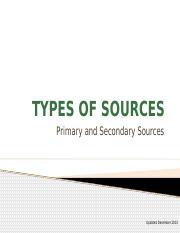 Unit 3 Pt 1 Primary Vs. Secondary Sources.pptx