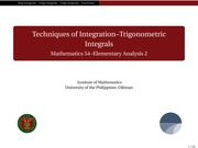 02 Trigonometric Integrals