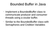 Bounded Buffer in Java