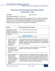 nr447 interview guidelines Project milestone 1 custom essay guidelines and  addresses a step for expert interview in both  attached are guidelines and rubic nr447.