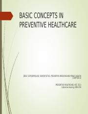 Basic Concepts in Preventive Healthcare Online
