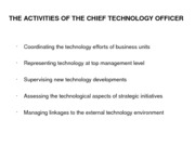Role Of CTO