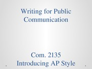Writing for Public Communication 82614