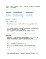 list-of-synonyms-and-antonyms pdf - List of Synonyms A list of