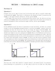 1 EC210-Exam Solutions 2015