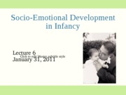 1-31 Infant socioemotional development