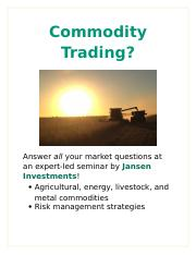 Lab 1-1 Commodity Trading.docx