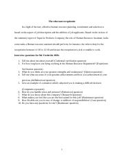 1 Pages The Reluctant Receptionist Interview Questionsdocx