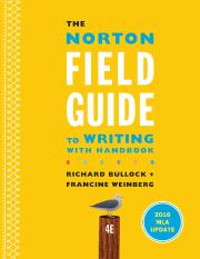 The Norton Field Guide to Writingwith Handbook 4th edition-