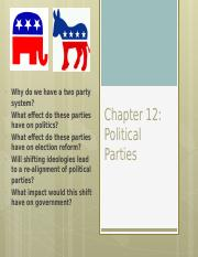 7. Chapter 12-Political Parties