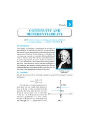Continuity and Differentiability ch 5