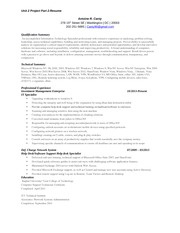 unit 2 project part 2-resume